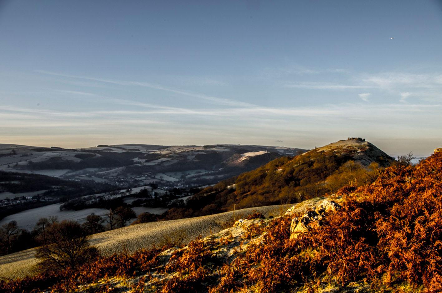 *Castell Dinas Bran on a winter morning
