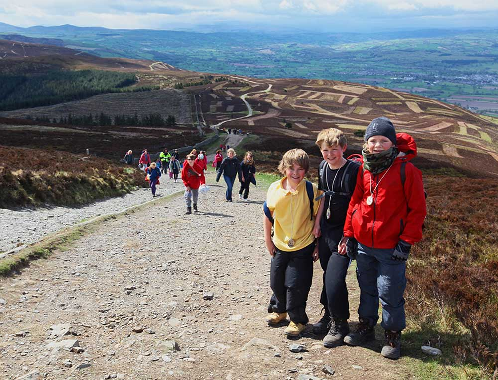 Children on Moel Famau