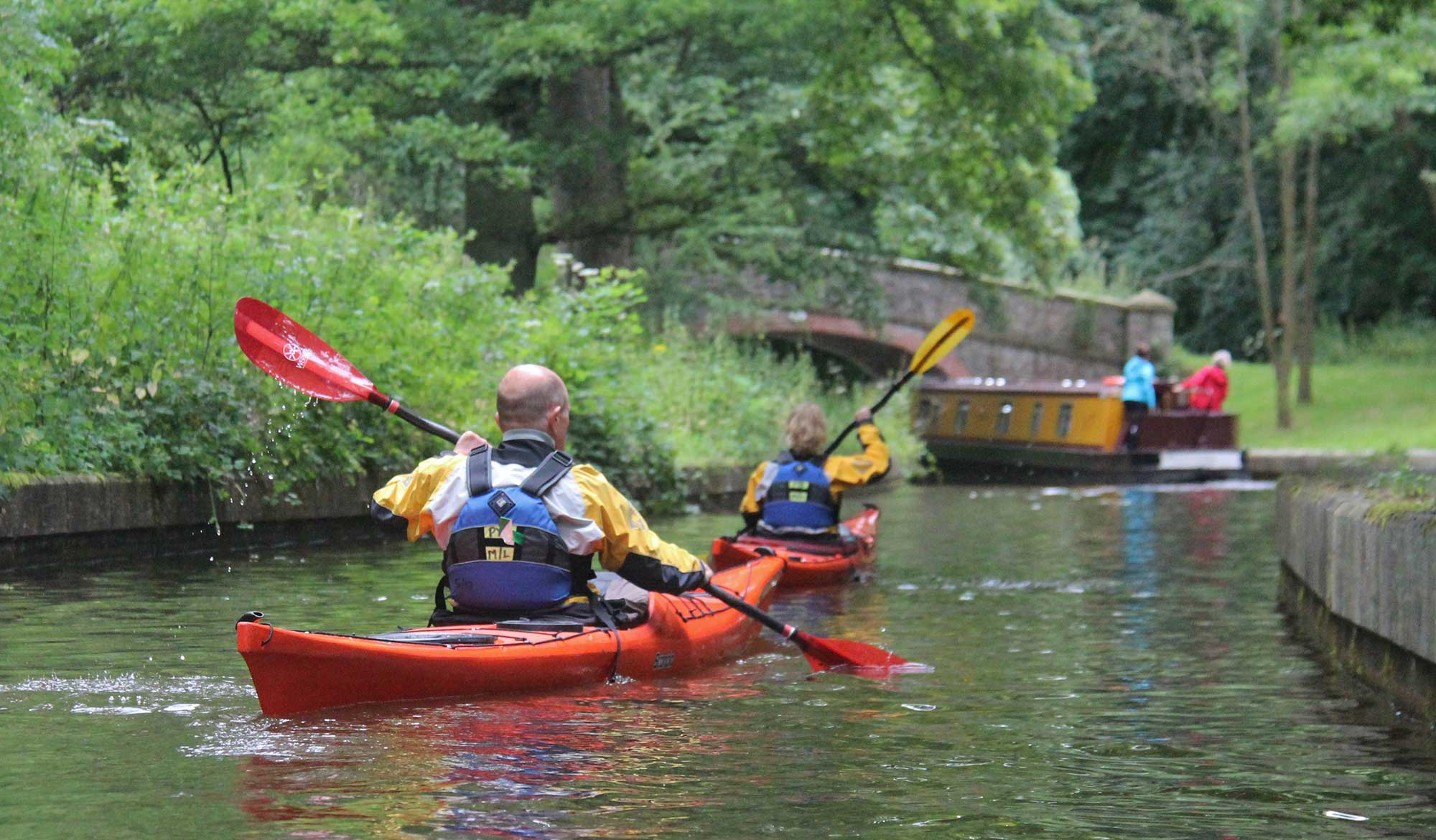 Canoeing on the Llangollen canal