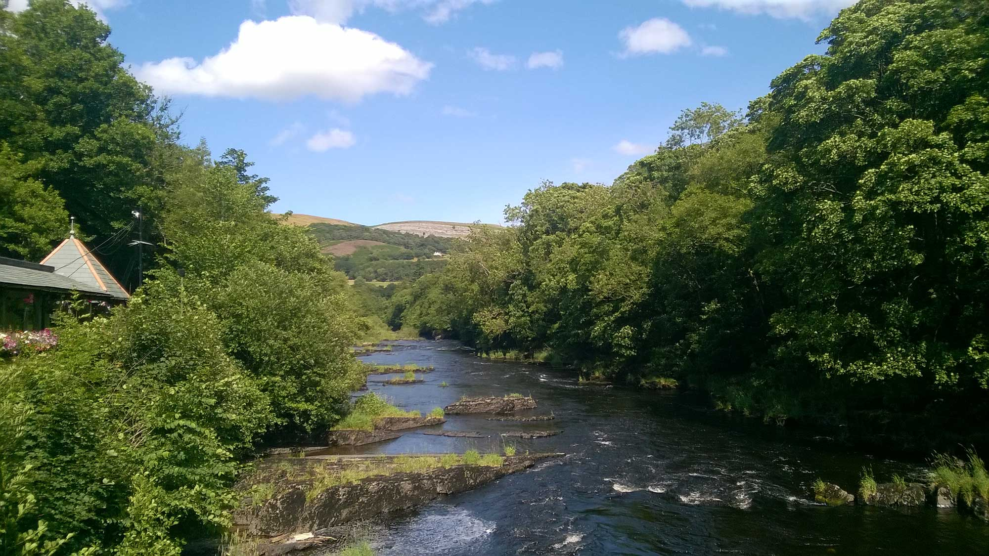 View from Chain Bridge Dee Valley