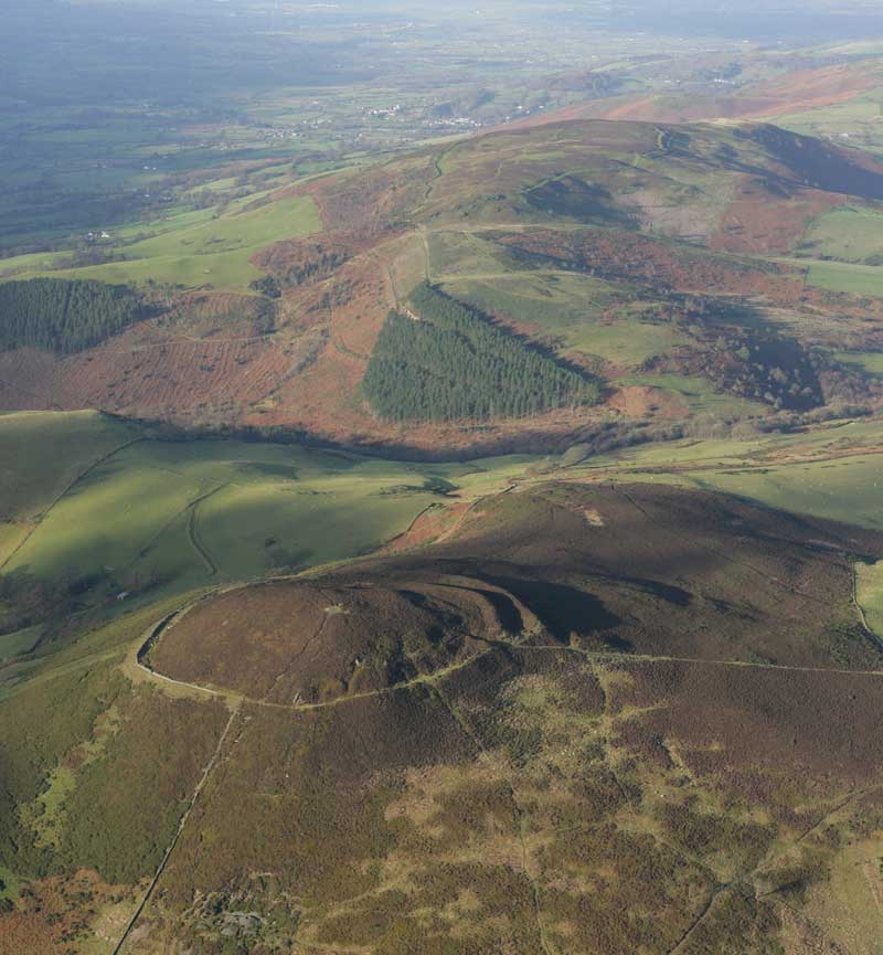 Aerial view of Moel Arthur