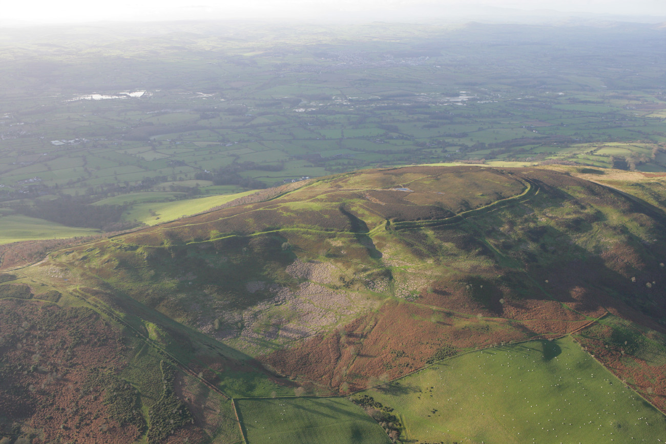 Penycloddiau Hillfort from the air