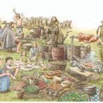 Iron Age feast illustration