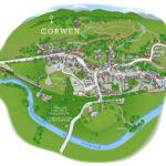 *Map llwybr Cawr Corwen Giant trail map