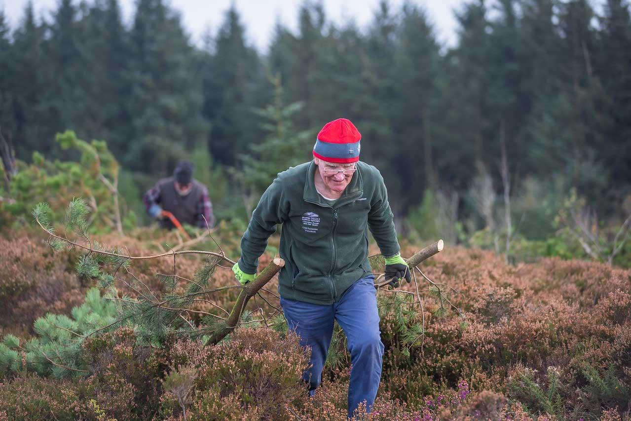 *Volunteers managing the moorland