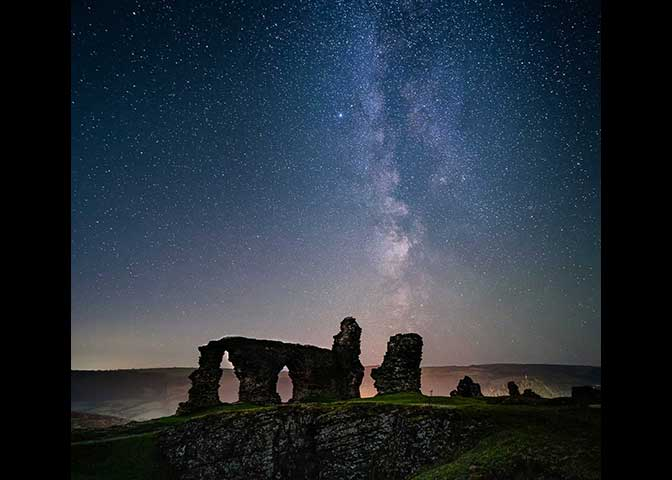 *Castell Dinas Brân and the Milky Way