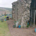 Archaeological excavation on Dinas Brân / Cloddiad archaeolegol ar Ddinas Brân